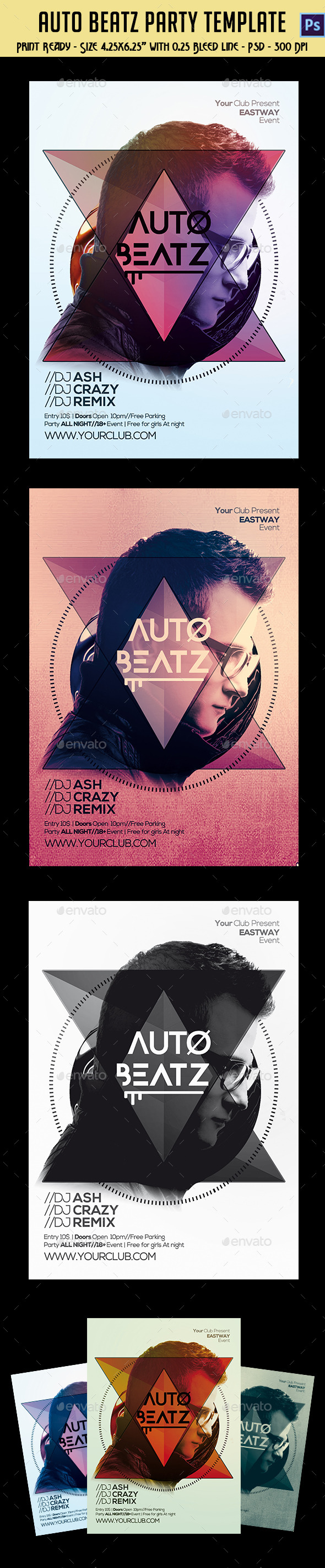 GraphicRiver Auto Beatz Party Template 10336934