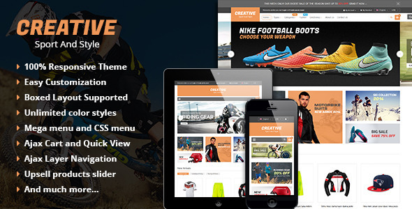 ThemeForest Creative Responsive Multipurpose Magento Theme 10336985
