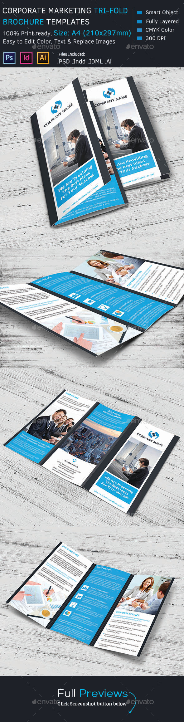 GraphicRiver Corporate Marketing Tri-Fold Brochure 10337021