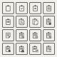 Clipboard Icons Set  - GraphicRiver Item for Sale