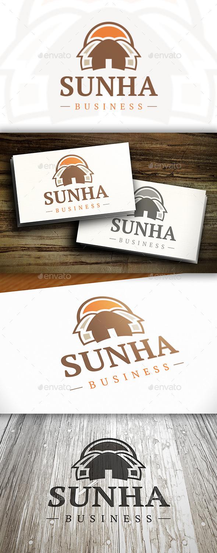 GraphicRiver Sunny House Logo 10337044