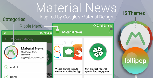 CodeCanyon Material News 10337045