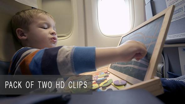 Child Playing during Flight