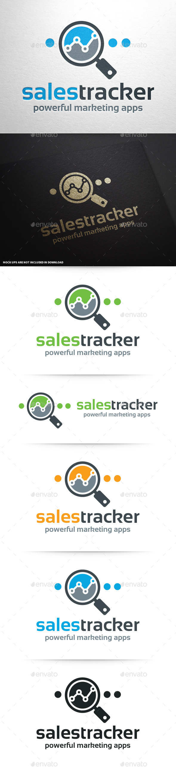 GraphicRiver Sales Tracker Logo Template 10337487
