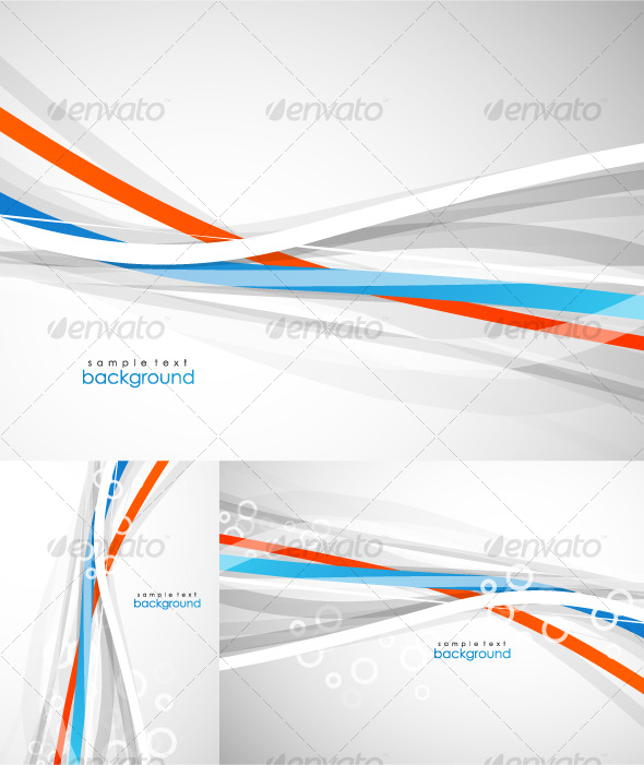 GraphicRiver Abstract lines Vector background pack 130321