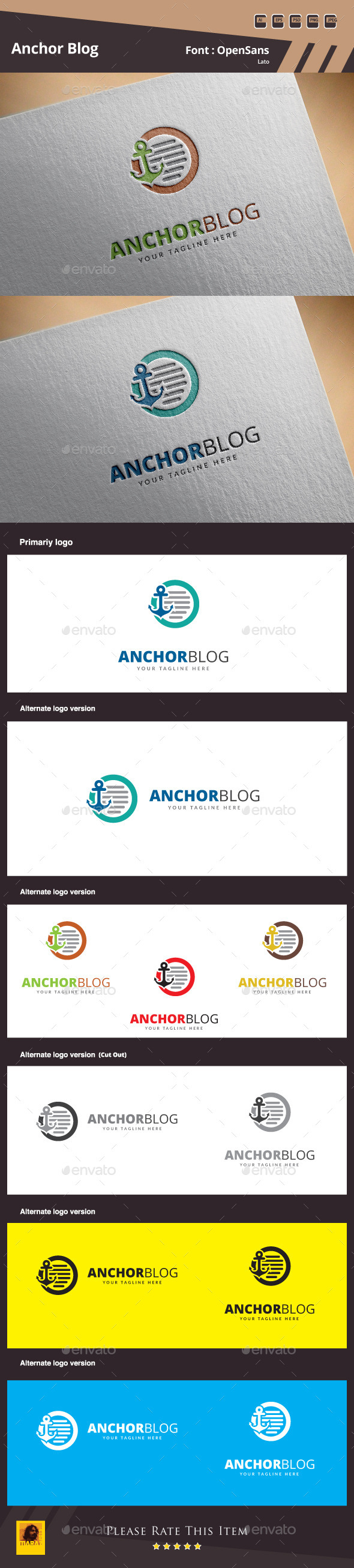 Anchor Blog Logo Template