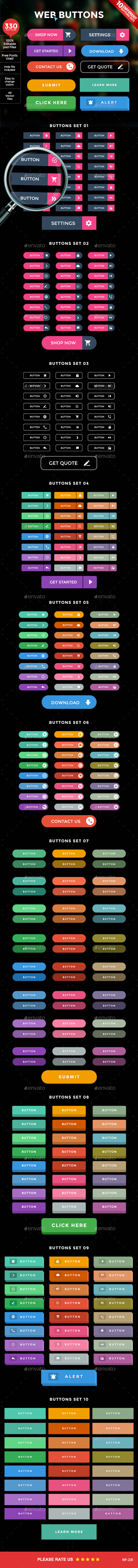 GraphicRiver Web Buttons 10292398