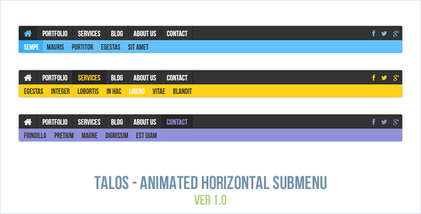 Download Talos - Animated Horizontal Submenu nulled download