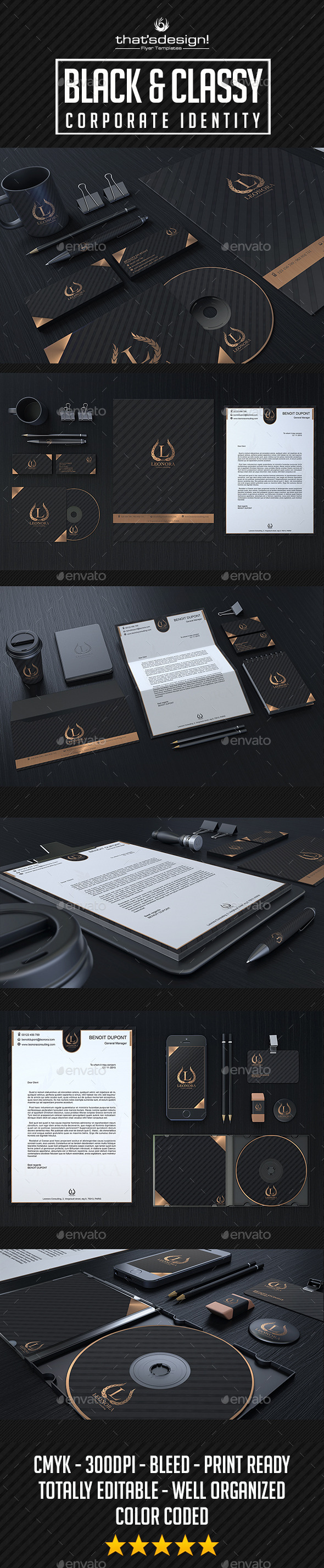 GraphicRiver Black and Classy Corporate Identity 10337713