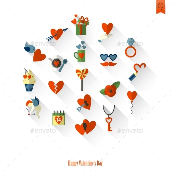 GraphicRiver Happy Valentines Day Icons 10337716