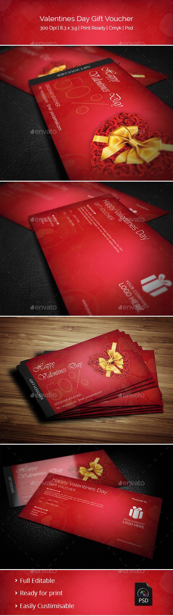 GraphicRiver Creative Valentines Day Gift Voucher 10337903
