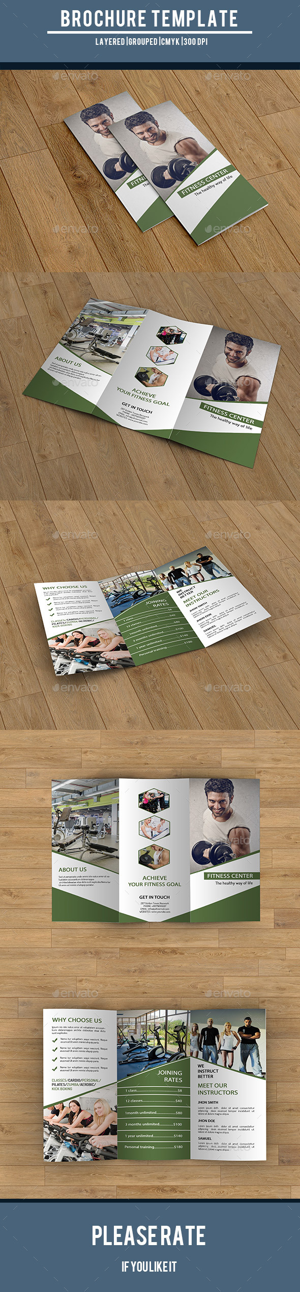 Trifold Brochure for Gym Center-V220