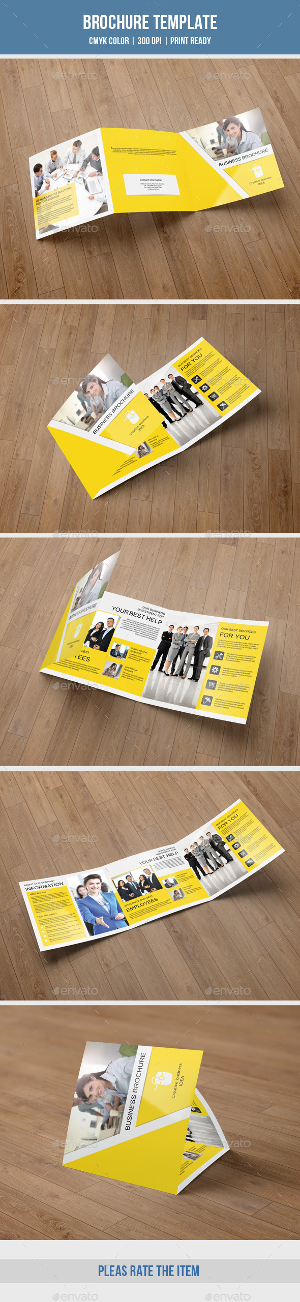 GraphicRiver Corporate Square Trifold Brochure-V60 10337970