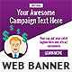 Purple Power Web Banner - GraphicRiver Item for Sale