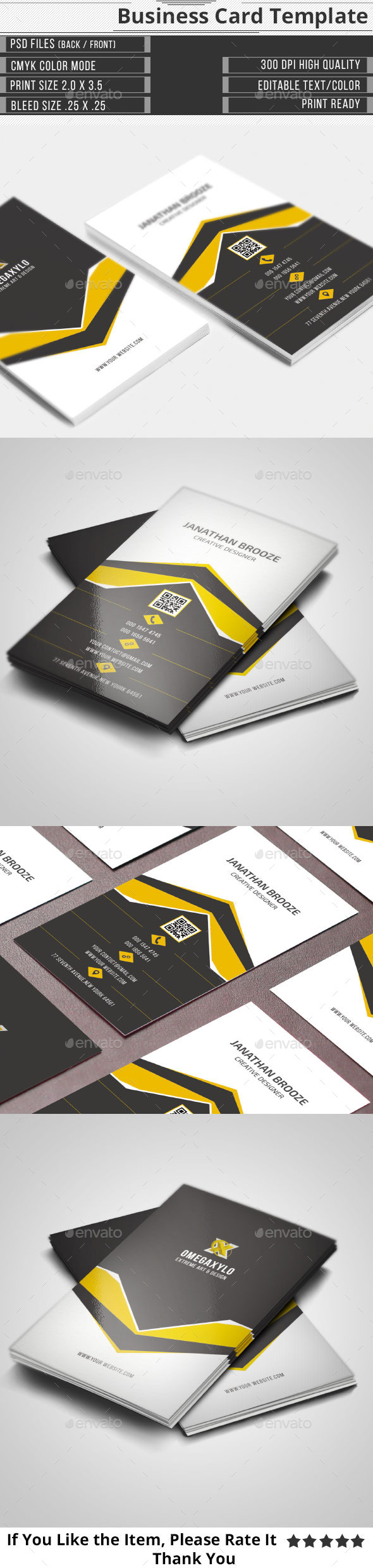 GraphicRiver Clean Creative Corporate Business Card 10337980