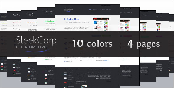 SleekCorp, professional business theme