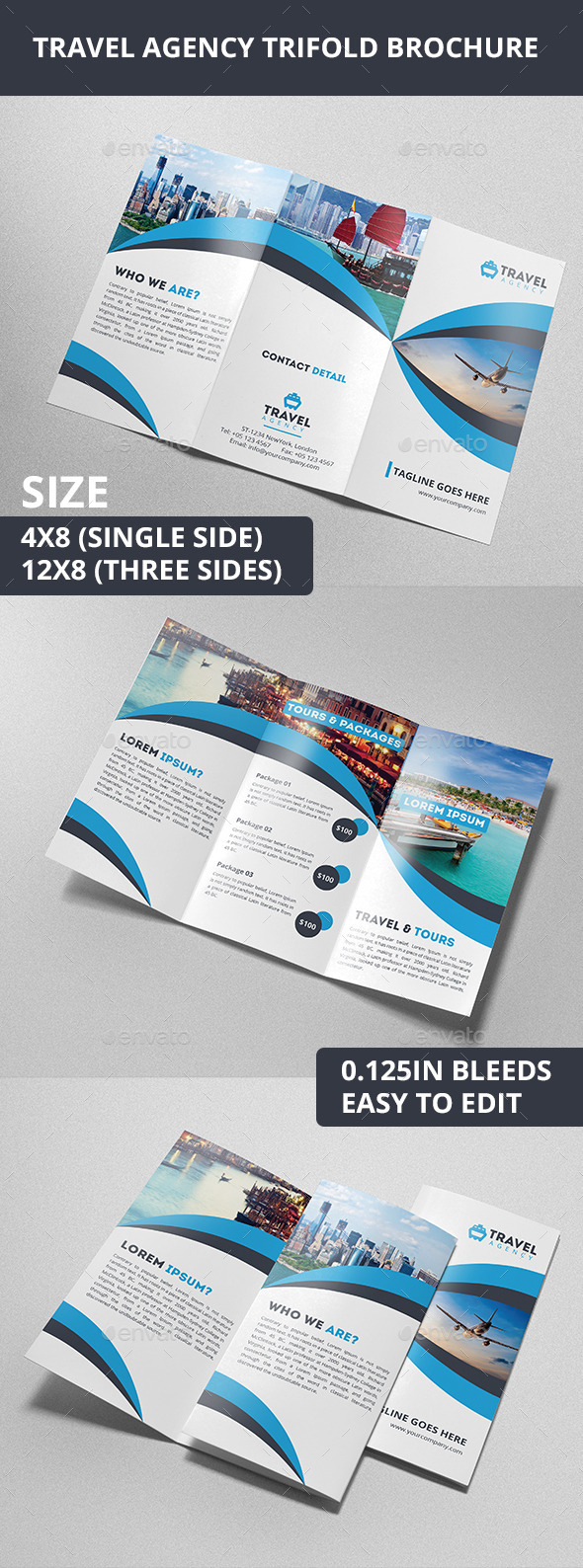 GraphicRiver Travel Agency Trifold Brochure 10338029