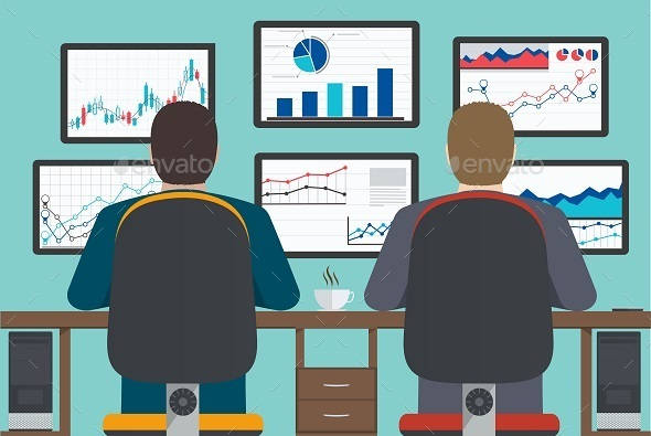 GraphicRiver Business Analytics on Monitors 10338042