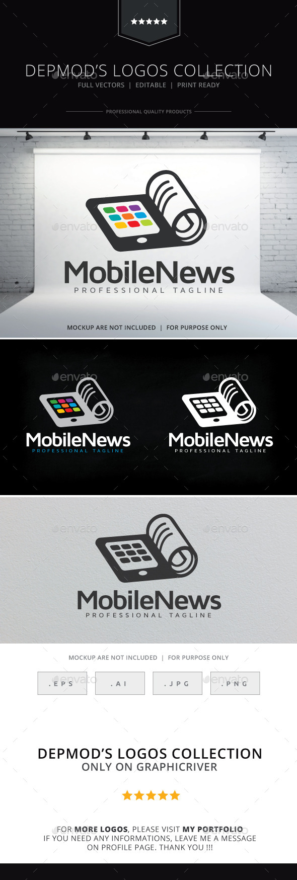 GraphicRiver Mobile News Logo 10338086