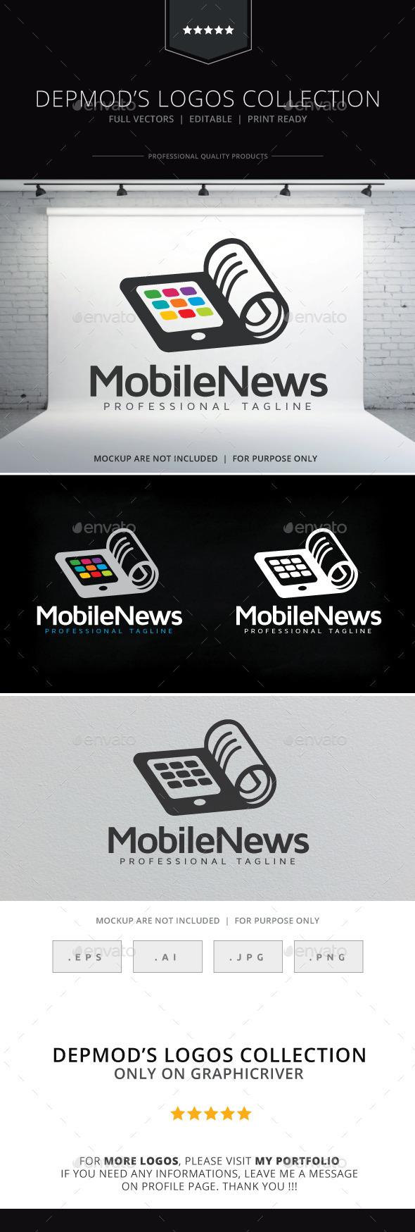 GraphicRiver Mobile News Logo 10338086