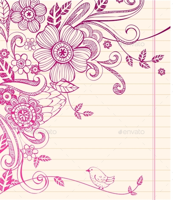 GraphicRiver Hand-Drawn Sketch Floral Composition 10338095