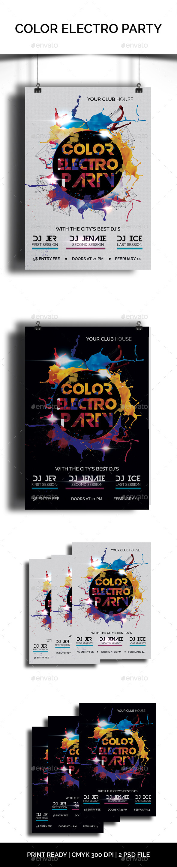 GraphicRiver Color Electro Party 10338140