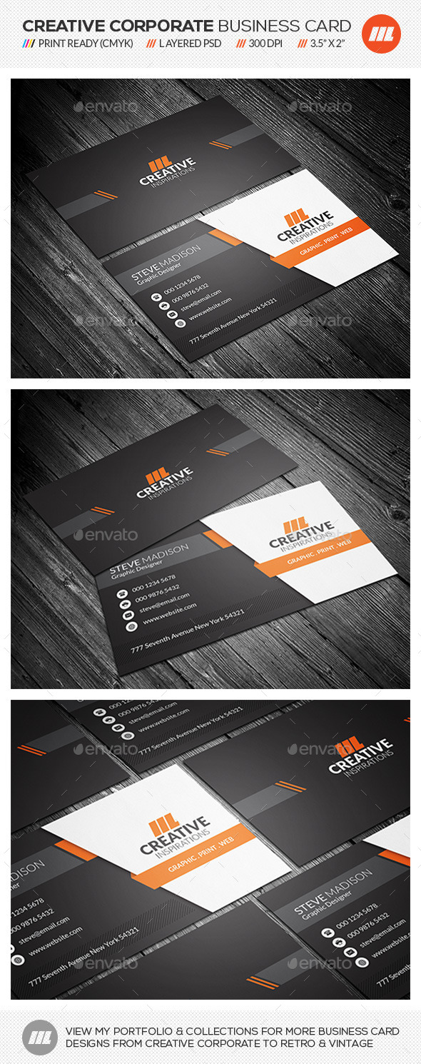 GraphicRiver Creative Corporate Business Card 10338203