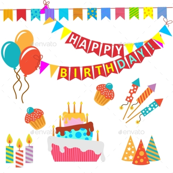 GraphicRiver Happy Birthday Set 10338207