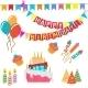Happy Birthday Set - GraphicRiver Item for Sale