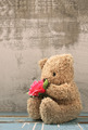 cute bear doll holding rose bouquet - PhotoDune Item for Sale