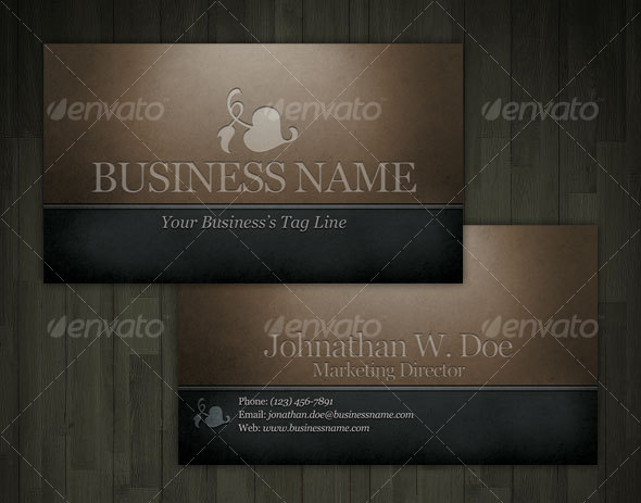 GraphicRiver Engraved Dark Classic Business Card 43202