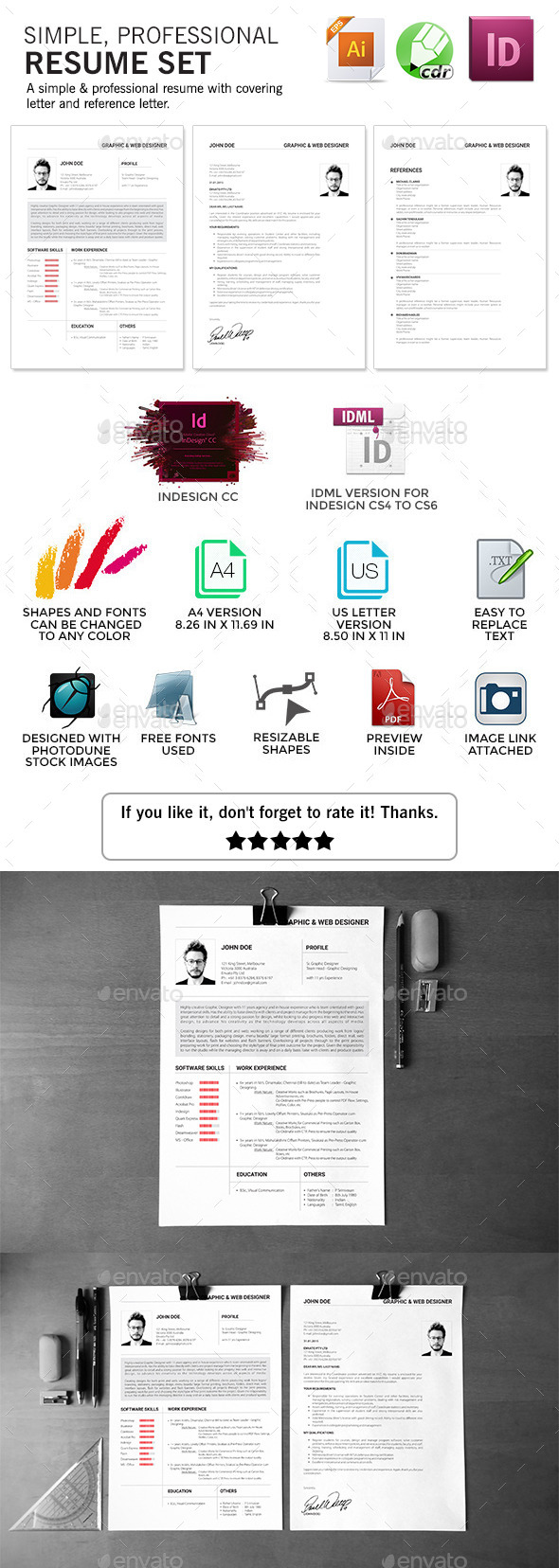 GraphicRiver Agastya Resume Set 10290212
