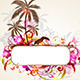 Tropical Banner with Palms and Toucan - GraphicRiver Item for Sale