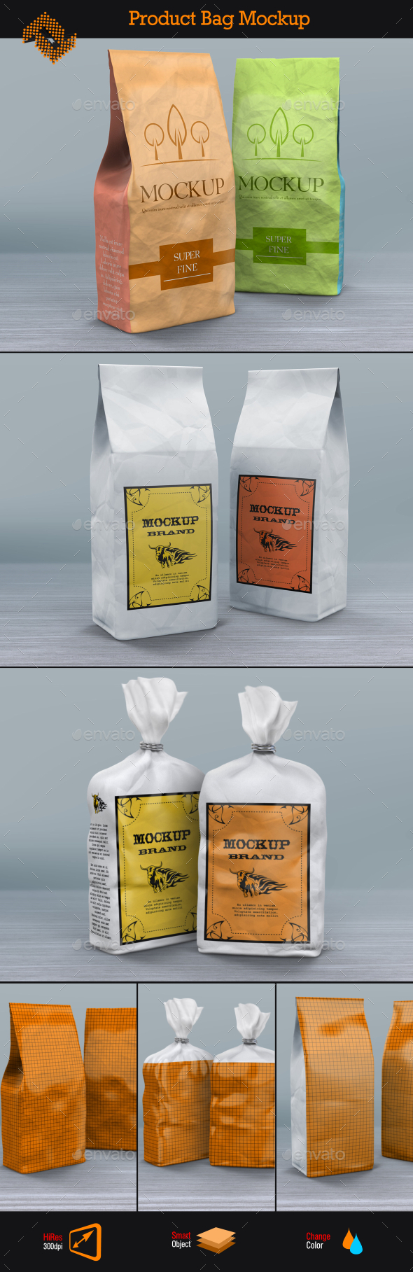 GraphicRiver Product Paper Bags Mockup 10338632