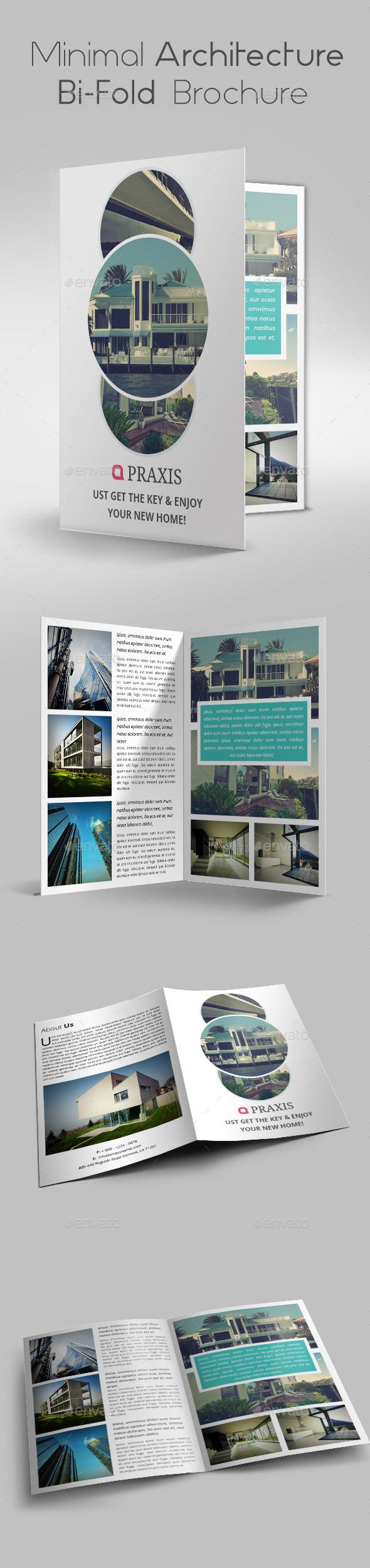 GraphicRiver Minimal Architecture Bi-Fold Brochure 10304707