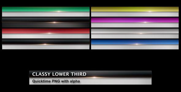VideoHive Classy Lower Third 130362
