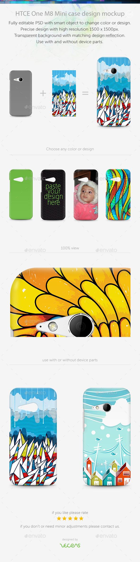 GraphicRiver HTCE One M8 Mini Case Design Mockup 10339572