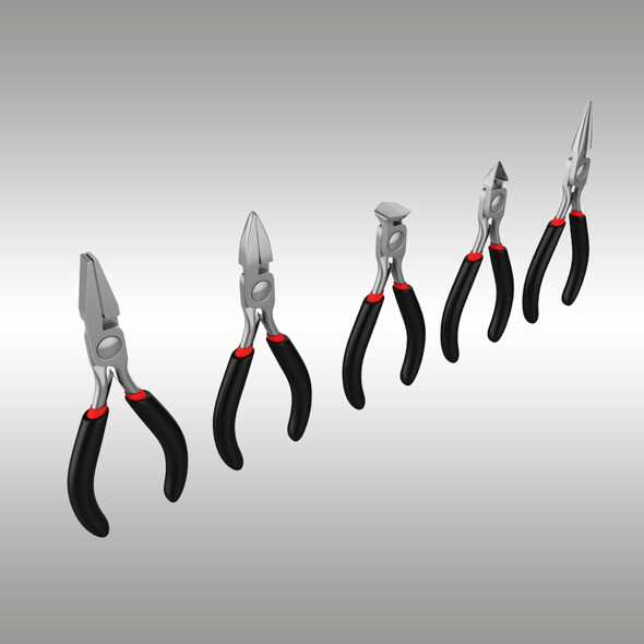 Pliers Set - 3DOcean Item for Sale