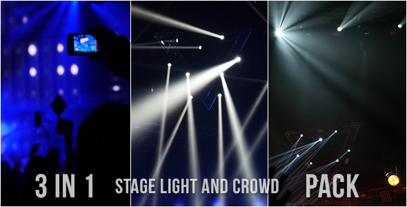 Stage Light And Crowd Pack 3 In 1