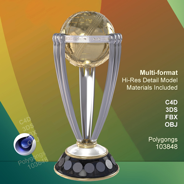 ICC Cricket World Cup 2015 Trophy - 3DOcean Item for Sale
