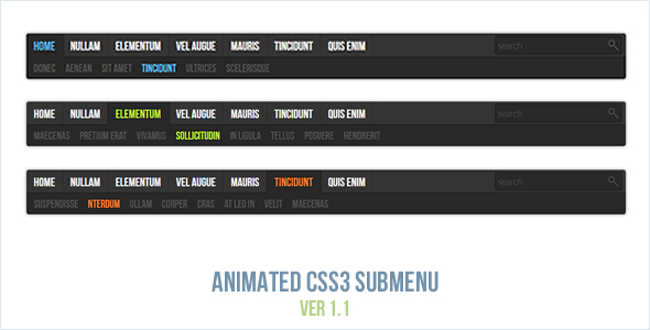 Download Animated CSS3 Submenu nulled download