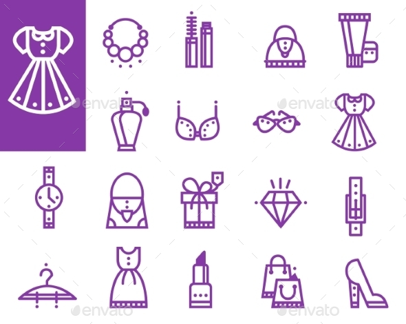 GraphicRiver Shopping Icons 10340012