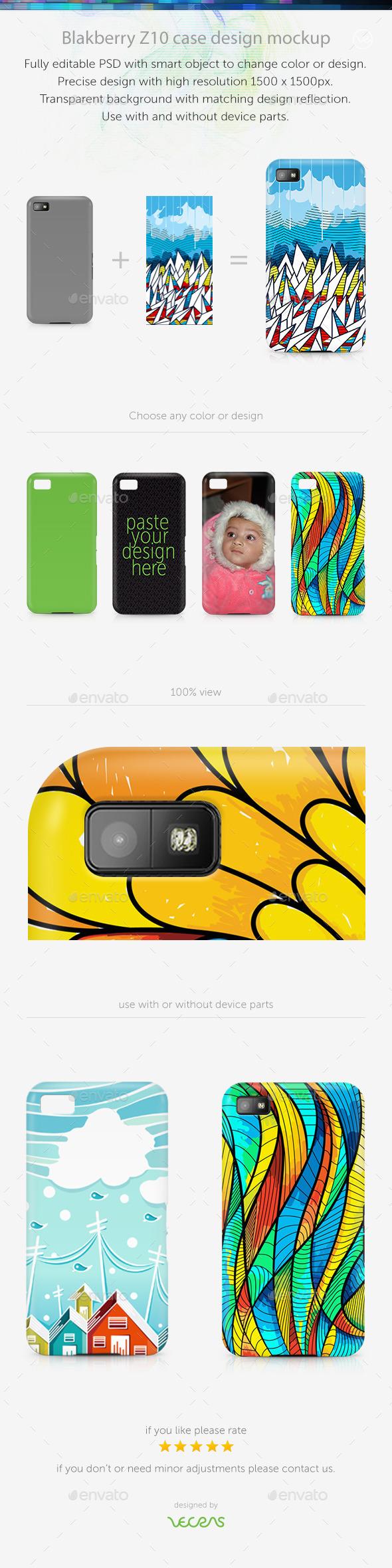 GraphicRiver Blakberry Z10 Case Design Mockup 10340204