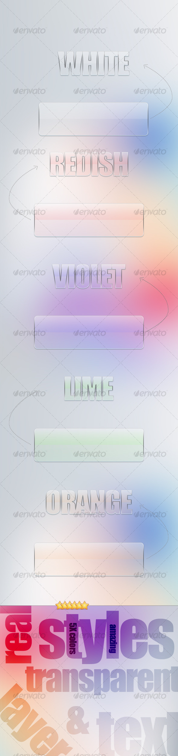 GraphicRiver Real Transparent Layer Styles 129502