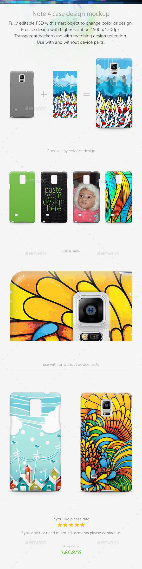 GraphicRiver Note 4 Case Design Mockup 10340324