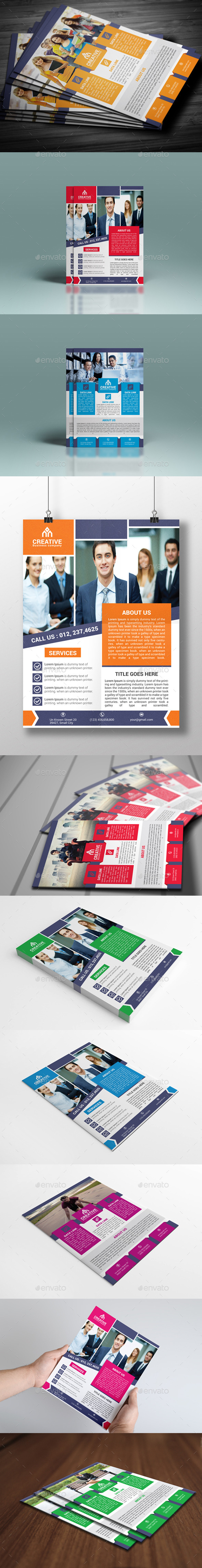 GraphicRiver Corporate Flyer Bundle 10340371