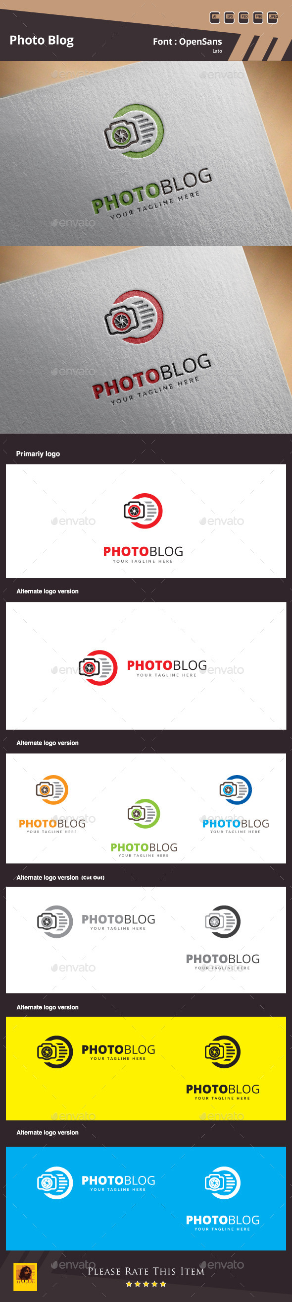 GraphicRiver Photo Blog Logo Template 10340381