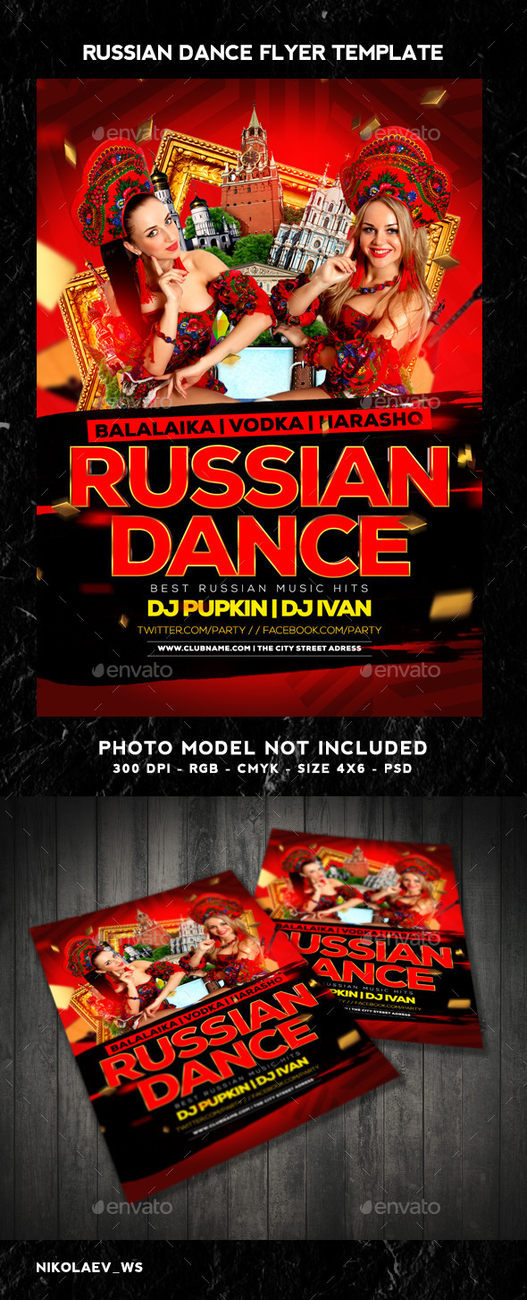 GraphicRiver Russian Party Flyer 10340525