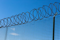 Wired Fence with Spiral Barbwire - PhotoDune Item for Sale