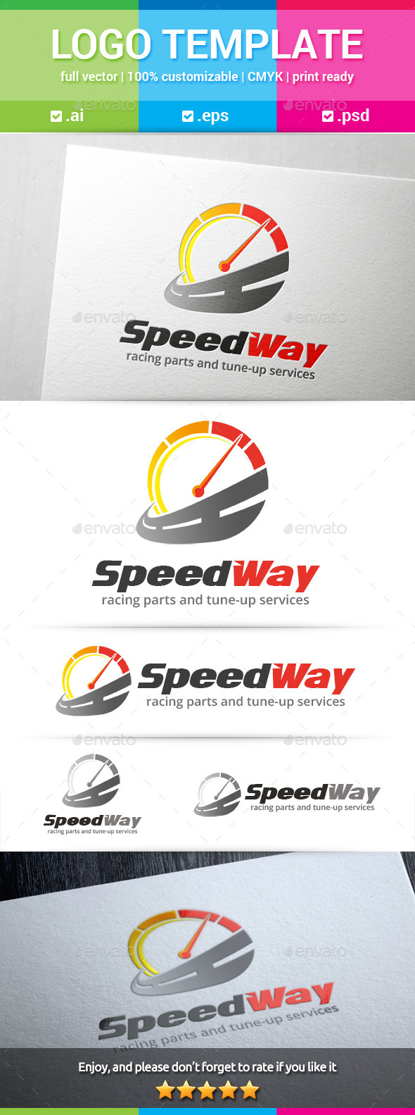 GraphicRiver Speed Way Logo 10340846